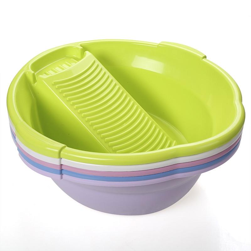 Plastic washtub washboard basin sudsy laundry tub basin syncronisation sudsy