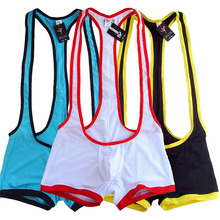 Mens Brand Underwear Gay Undershirt Sexy Men Elastic Mesh Breathable Jumpsuits Tank Tops Spandex Bodysuit