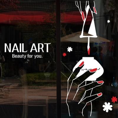 Nail Art Vinyl Wall Decal Nail Polish Hand Varnish Polish