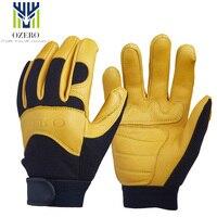OZERO Motorcycle Racing Gloves Deerskin Sports Warm Waterproof Anti Cold Anti Slip Snowboard Cycling Hiking For
