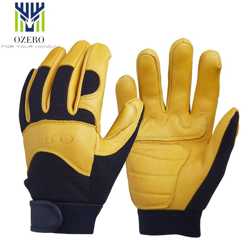 OZERO Motorcycle Racing Gloves Deerskin Sports Warm Waterproof Anti Cold Anti Slip Snowboard Cycling Hiking For Men Woman 8003
