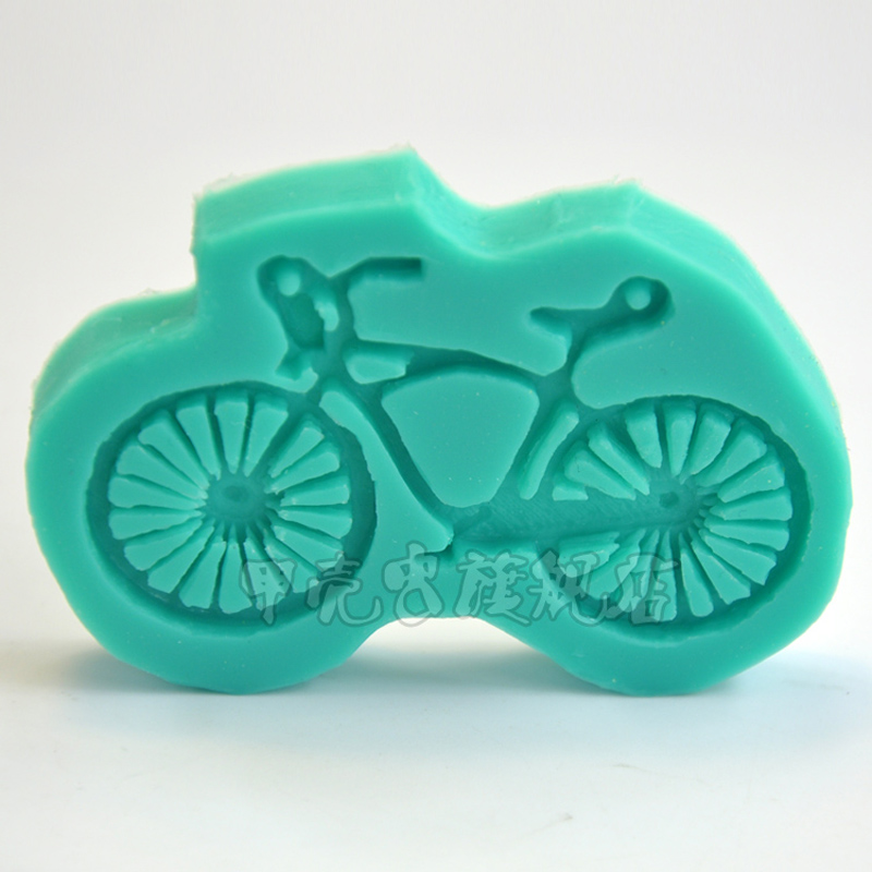 1 Stucke Fahrrad Form Silikon Seife Mold Cupcake Topper Fondant