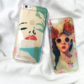 New Arrival Blue Ray Sexy Woman Marilyn Monroe Phone Case For iPhone 7 7plus 6 6s 6plus 6splus Coque Back Cover Flowers Girl