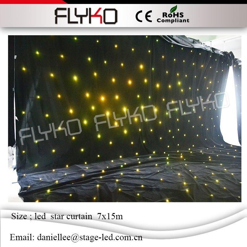 Портативный занавес фон светодиодный занавес СВЕТОДИОДНЫЙ занавес падения звезды для продажи 7x15 м