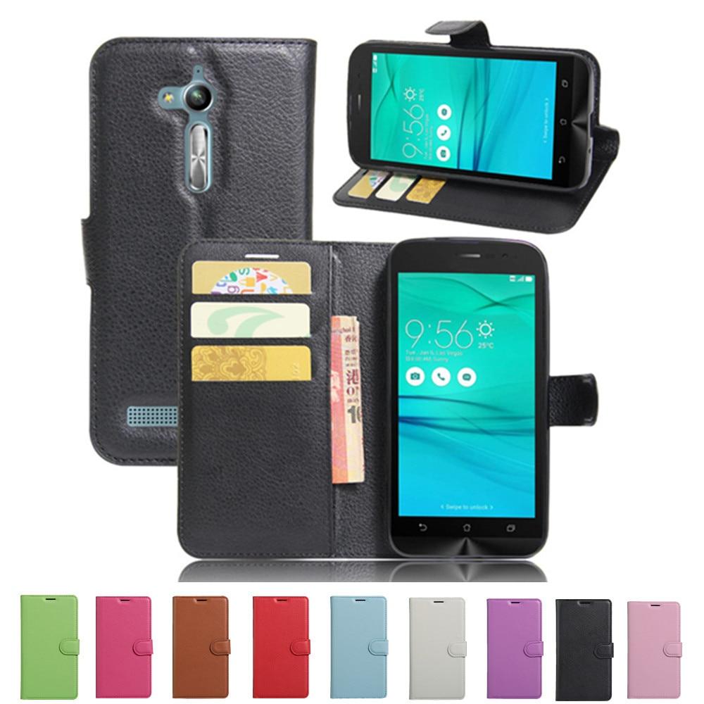 Asus ZenFone Go ZB500KL ZB500KG 5,0 '' tok luxus PU bőr hátsó - Mobiltelefon alkatrész és tartozékok