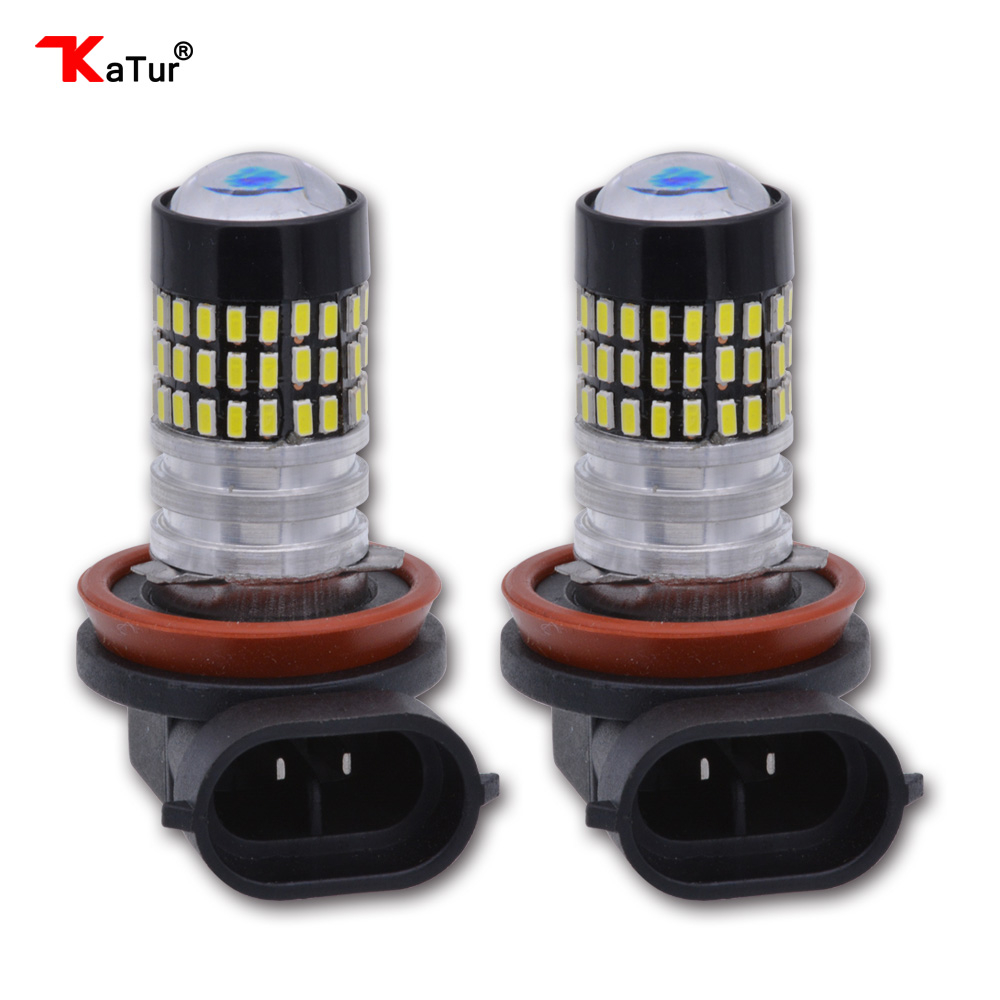 2pcs H8 H11 H16 Fog Light Car Led Bulbs External Lighting Daytime Running Lamp DC 12V 24V DRL Led 6000K Xenon White 78SMD 2pcs led car headlight light h15 63 smd 2835 drl daytime running light fog lamp bulb pure white 6000k dc 12v 24v