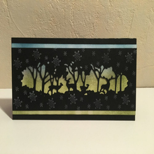 New Forest and Deer Hollow Carbon Steel Cutting Dies Craft Creative Scrapbook Stamps Dies Embossing Paper 18.3cm*5.4cm 1pcs new exquisite box carbon steel cutting dies craft stamps and dies creative scrapbook stamps dies embossing paper 2pcs