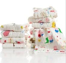 5pcs/lot 6 layer Muslin Cotton Baby Towel Handkerchief Colorful Kids Wipe Cloth Newborn Baby Face Towel Bibs Feeding Towel 25*25 платье для девочек ac 2015 cloth 5pcs lot 3 8y xyh 25