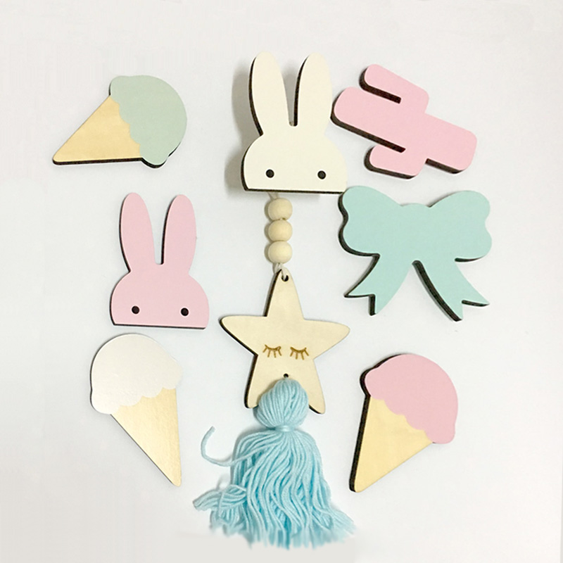 Nordic Kids Room Decorative Wall Hanging Clothing Hooks