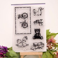 scrapbook DIY toy 10*15cm sellos carimbo ACRYLIC clear STAMPS FOR PHOTO timbri SCRAPBOOKING stamp