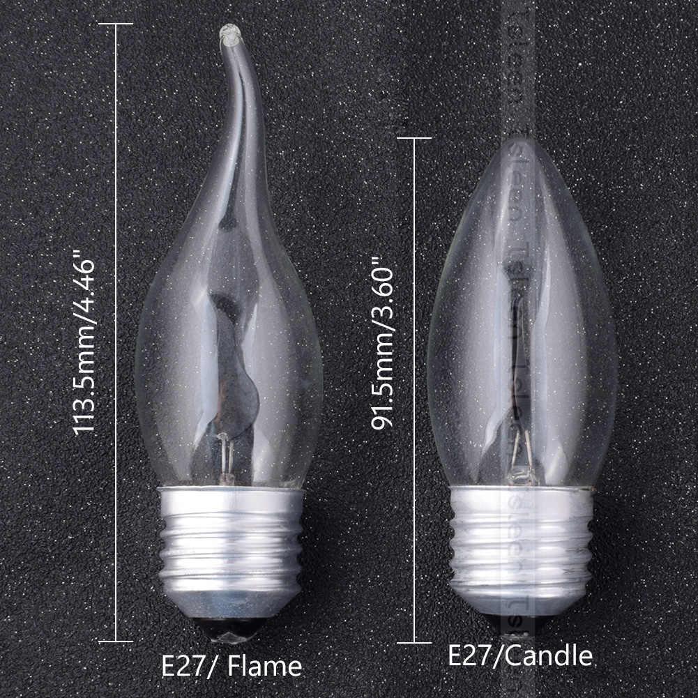 220V rétro Vintage Edison ampoule E14 E27 3W LED lampe scintillante feu flamme/bougie queue lustre ampoules décor à la maison éclairage