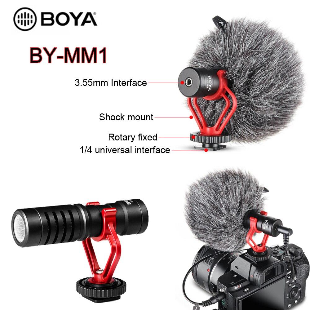 BOYA BY-M1 BY-M1DM BY-MM1 по M1 петличный микрофон Камера видео Регистраторы для iPhone смартфона, перчатки для цифровой зеркальной камеры Canon Nikon DSLR записы...