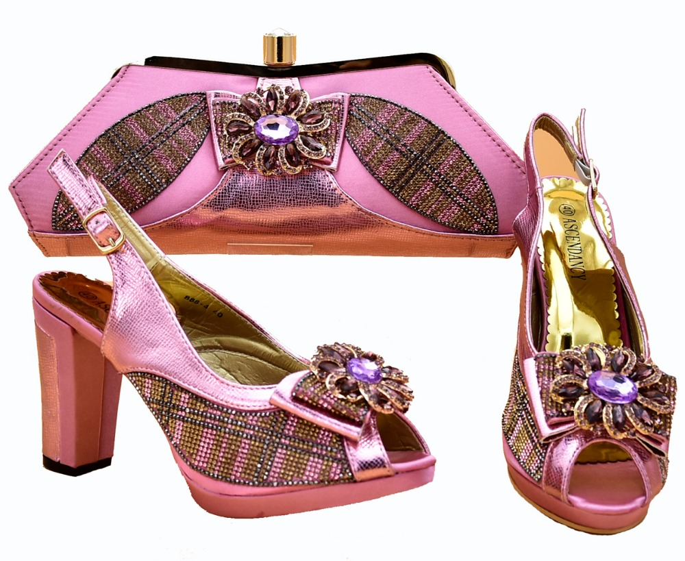 Lovely baby pink shoes and bag matching