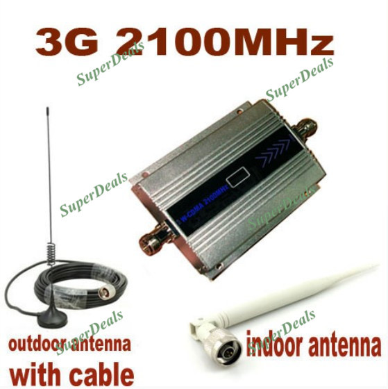 Mini W CDMA 2100Mhz 3G Repeater WCDMA Signal Repeater 3G mobile phone repeater booster Amplifier coverage