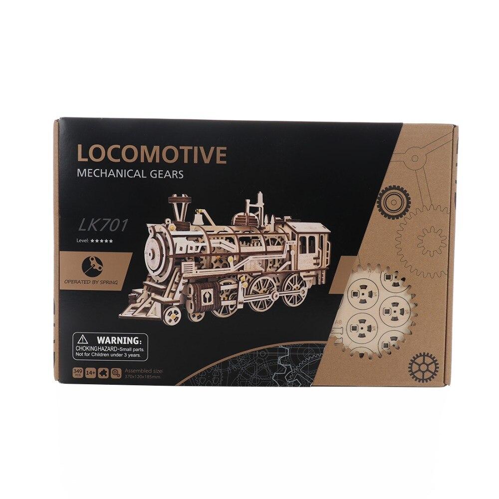 3D modèle en bois jouets Train à vapeur enfants auto-assemblage Puzzle jouets éducatifs Kits de construction jouets loisirs cadeau pour enfants adulte - 2