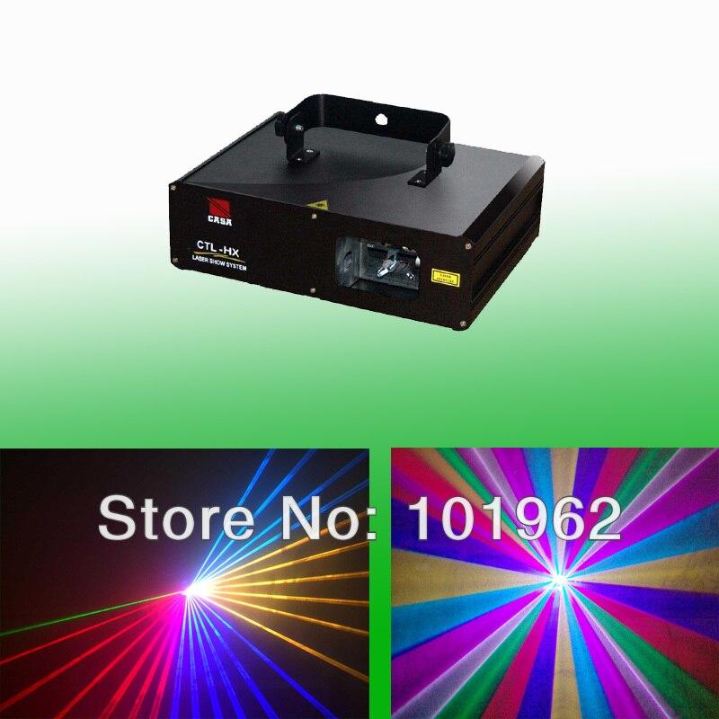 Alta calidad 1000 MW a todo color RGB DMX DJ iluminación láser etapa del sistema