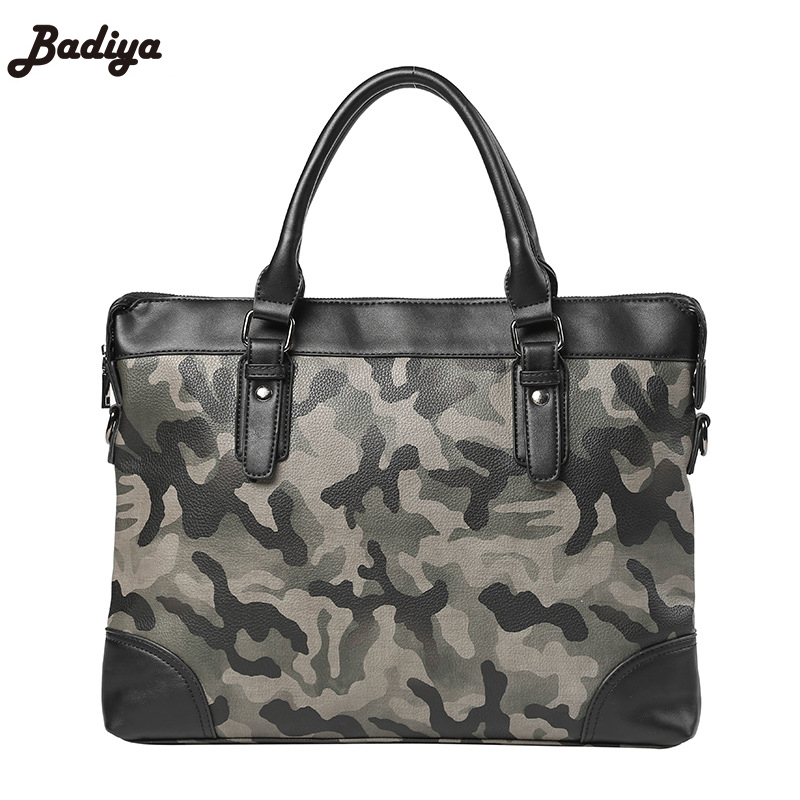 New Europe Style PU Leather Male Crossbody Bags Camouflage Men's Business Handbags High Quality Shoulder Bag For Man 2017 new style europe