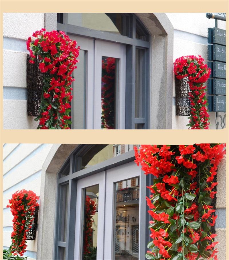 listový fialový umělý hedvábí květ svatební výzdoba domov - Pro svátky a večírky