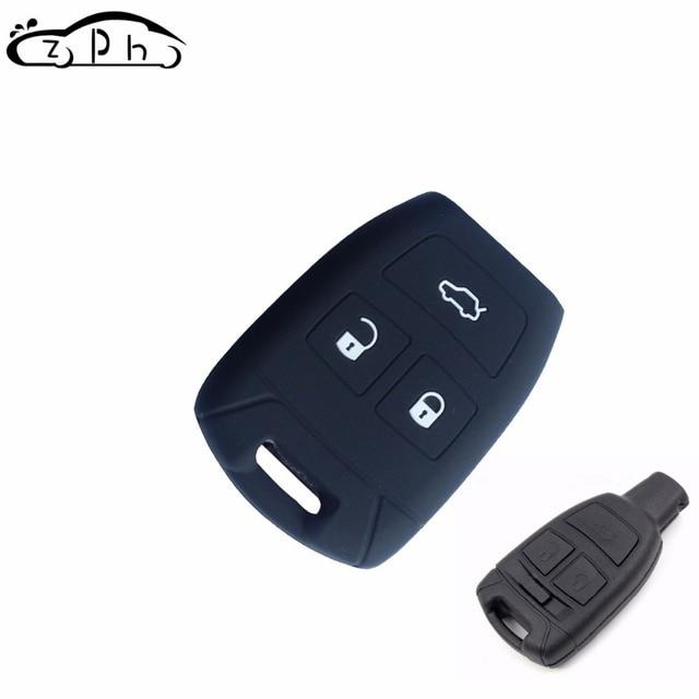 Силиконовый резиновый автомобильный чехол для ключей брелок подходит для Fiat Croma Bravo Stilo 3 кнопки умный дистанционный автомобильный чехол стильный Бесплатная доставка
