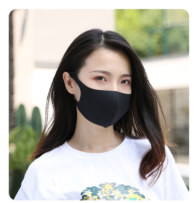 Mouth Mask  Ice Silk Cotton Anti Dust Mask, Sunscreen, Anti Tidbits, Washable Four Seasons