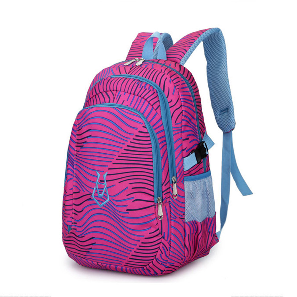 Leisure Zebra Print Students Nylon Travel Backpack School Bag Waterproof Women Men Casual Rucksack Mochilas Pack