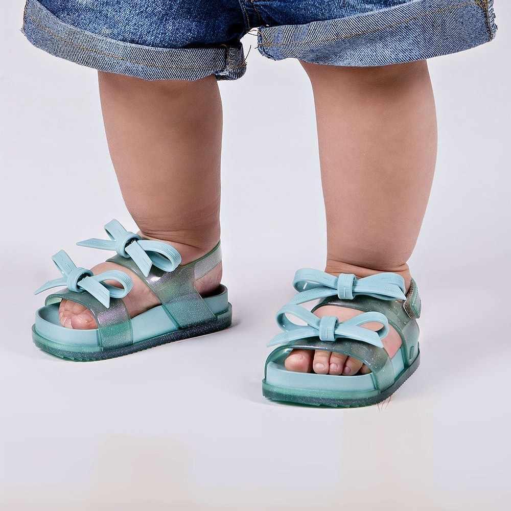 מיני מליסה מקורי 2019 קוסמי סנדל בנות ג 'לי סנדלי קשת ילדה נסיכת ילדי סנדלי חוף נעלי ילדים מליסה תינוק