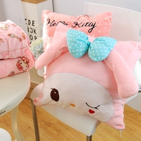 Plush 1pc 150cm Soft Melody Hello Kitty Bowknot Vehicle Office Cushion Blanket Stuffed Toy Romantic Gift