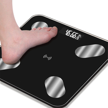 купить Bluetooth smart weight electronic health body fat scale filling APP electric weight scale body fat home body scale adult дешево