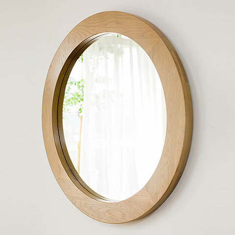 Aidai Nordic Home Wood Wall Mirror Wall Mirror Bathroom Vanity