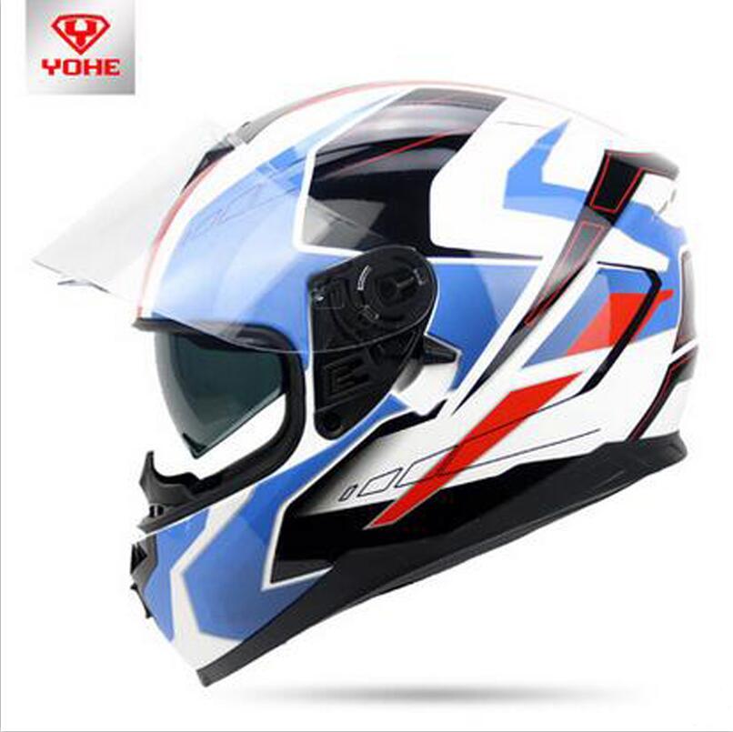 YOHE Daul lens YH-967 Motorcycle helmet Full face motorbike helmets full cover electric vehicle helmet safety helmet nobrand 967