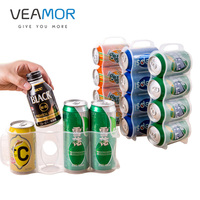 VEAMOR Hot sale Refrigerator Storage Box Kitchen Accessories Space-saving Cans Finishing Frame 4 Storage Box Gadgets WB1393