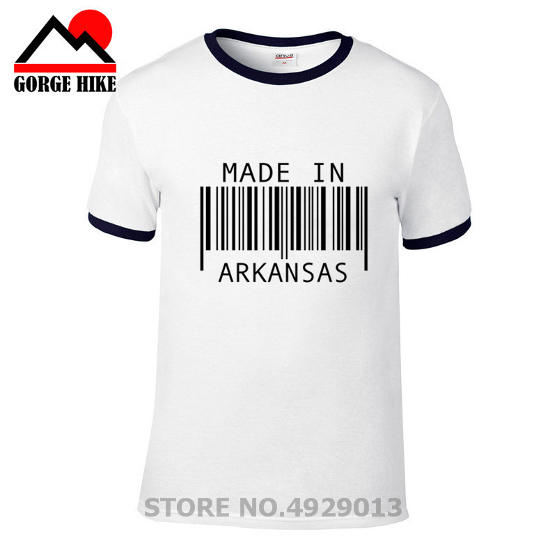 Creativity design t shirt made in <font><b>arkansas</b></font> t-shirt Creative custom men hip hop cotton short O-neck tee Hombre camisetas tshirt image