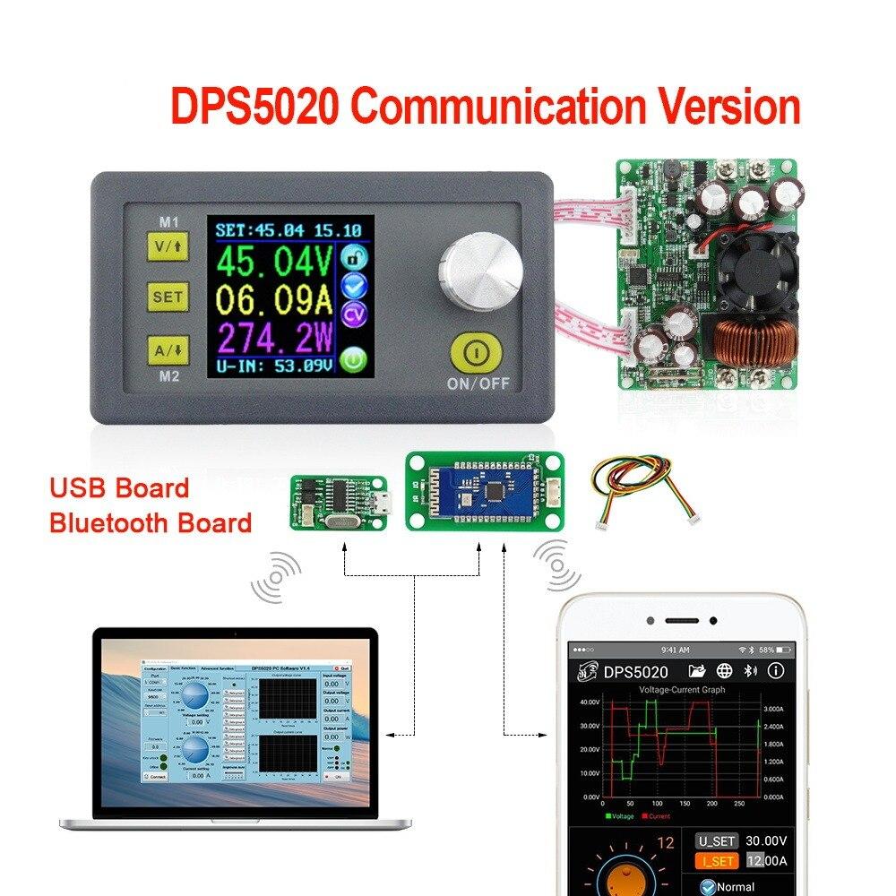RD DPS5020 50 V 20A de voltaje constante actual convertidor LCD voltimetro paso de comunicacion de