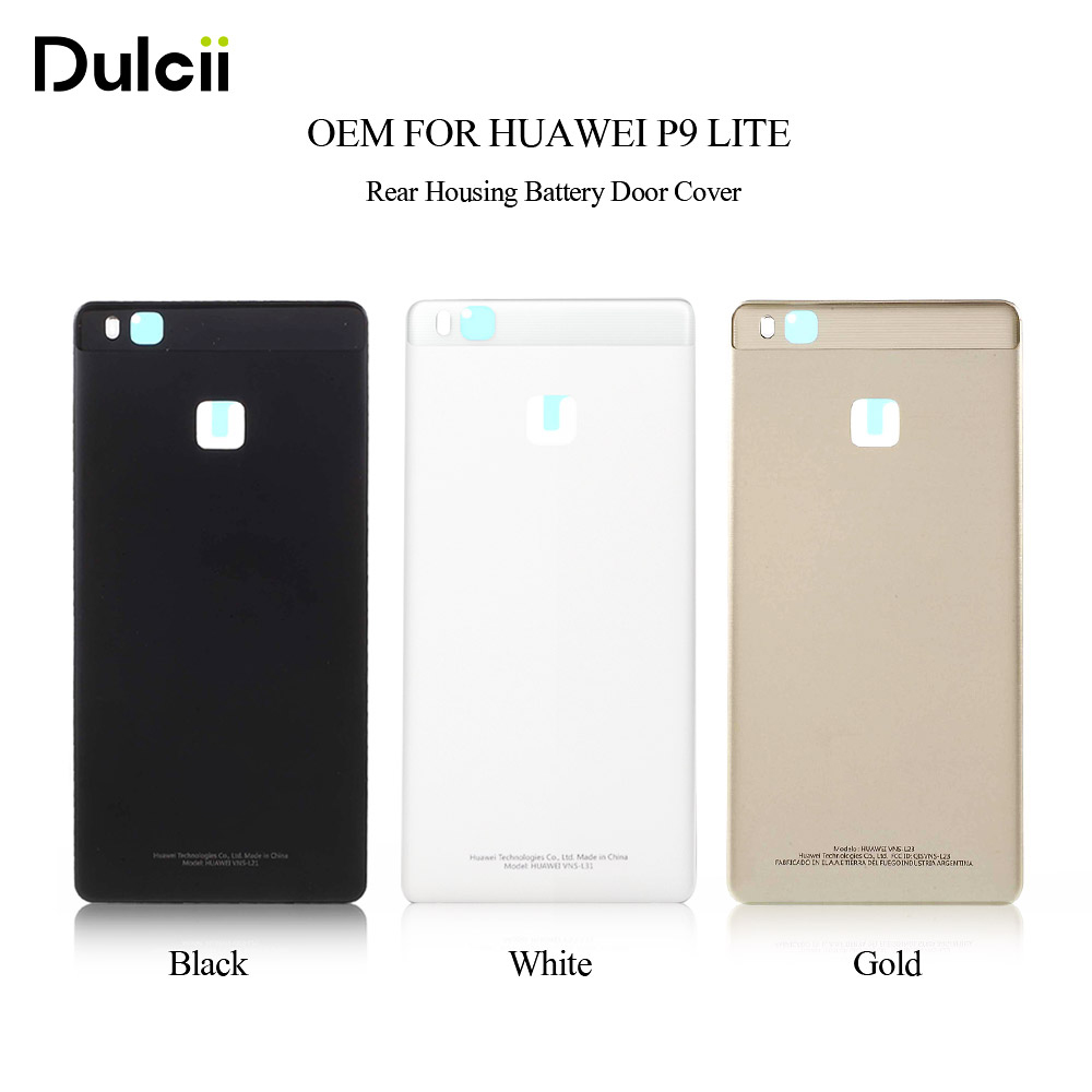 Dulcii Mobile Phone Parts OEM for Huawei P9 Lite Back Battery Housing Door Cover for Huawei P 9 Lite Housings Black