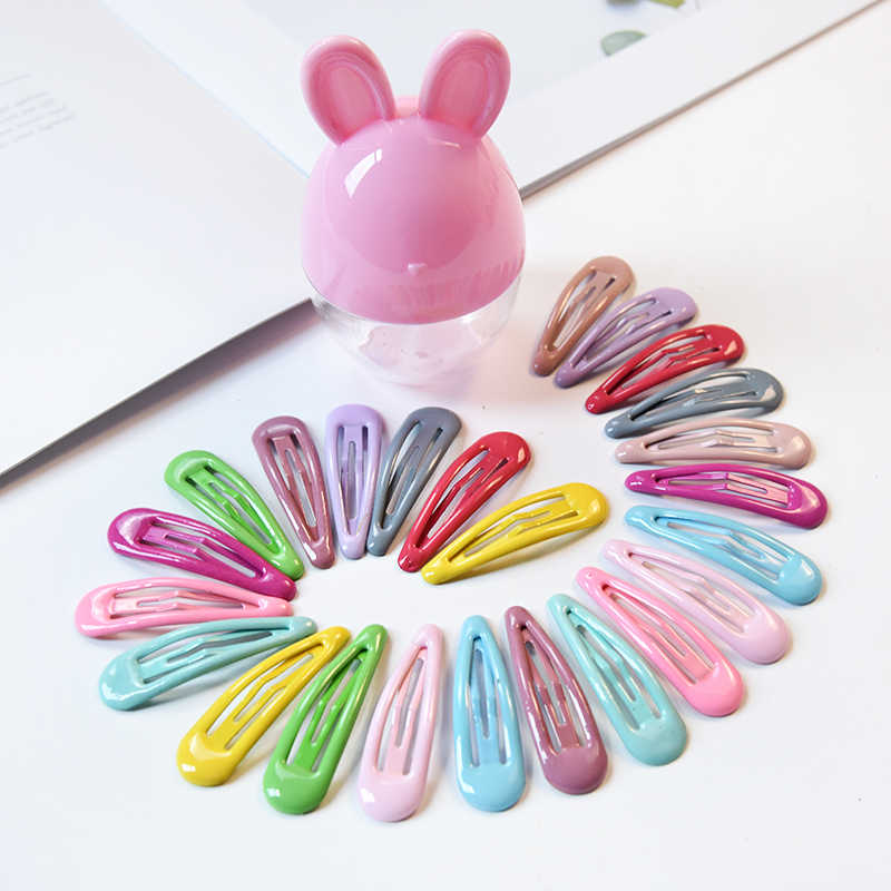 6/10/20/28Pcs 5cm Rabbit Ears Box Gift Snap Hair Clips BB Hairpins Cute Cartoon Barrettes Baby Children Women Girls Hairpins