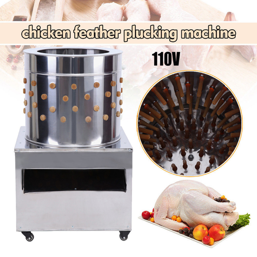 (Ship from USA) 1500w Turkey Chicken Plucker Machine Plucking Feathers Poultry Birds De-Feather Stainless Steel 110V (Ship from USA) 1500w Turkey Chicken Plucker Machine Plucking Feathers Poultry Birds De-Feather Stainless Steel 110V