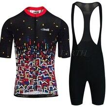 Bike-Clothing Cycling-Clothes-Set CINELLI Short-Sleeve Jersey-And-Bib-Shorts-Kit Men