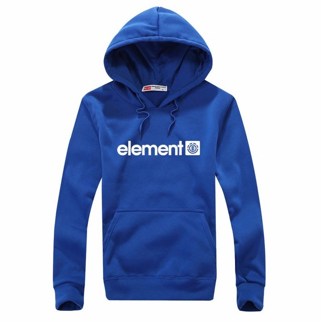 Element Print Solid Fleece Hoodies 6