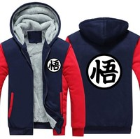 Anime Dragon Ball Z 2018 spring winter fleece thicken men sweatshirts Goku hoodies men sportswear brand clothing for anime fans