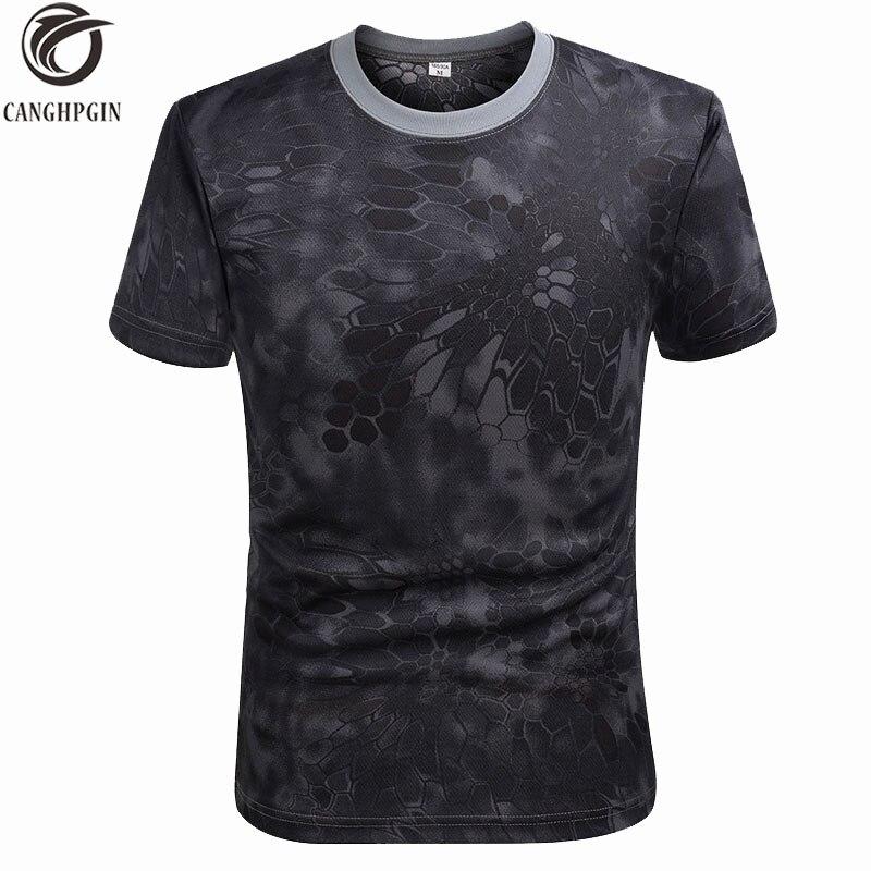2018 Summer Army Green Sports Tshirts Short Sleeve Quick Dry Camouflage Short Sleeve Running T shirt Men GYM Rashgard Man Tops