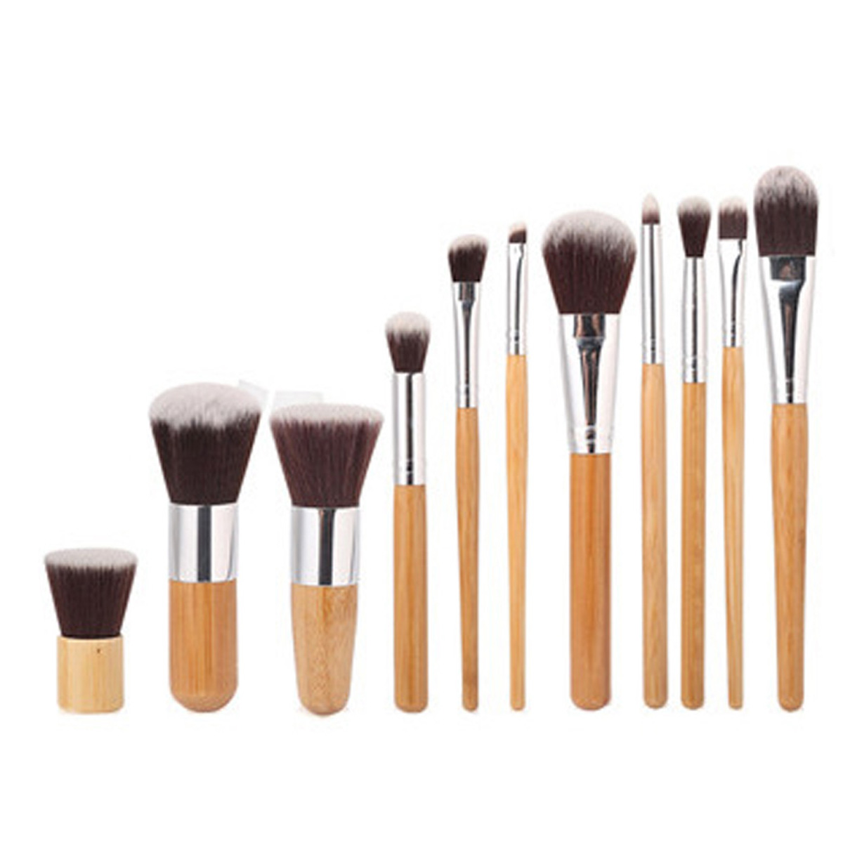 Makeup Brushes Set Cosmetics Foundation Bamboo Make Up Brush Tools Kit for Powder Blusher Eye Shadow Eyeliner открытые системы журнал publish 04 2014