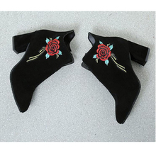 Boots High Quality Solid Suede embroidery ankle boots for women