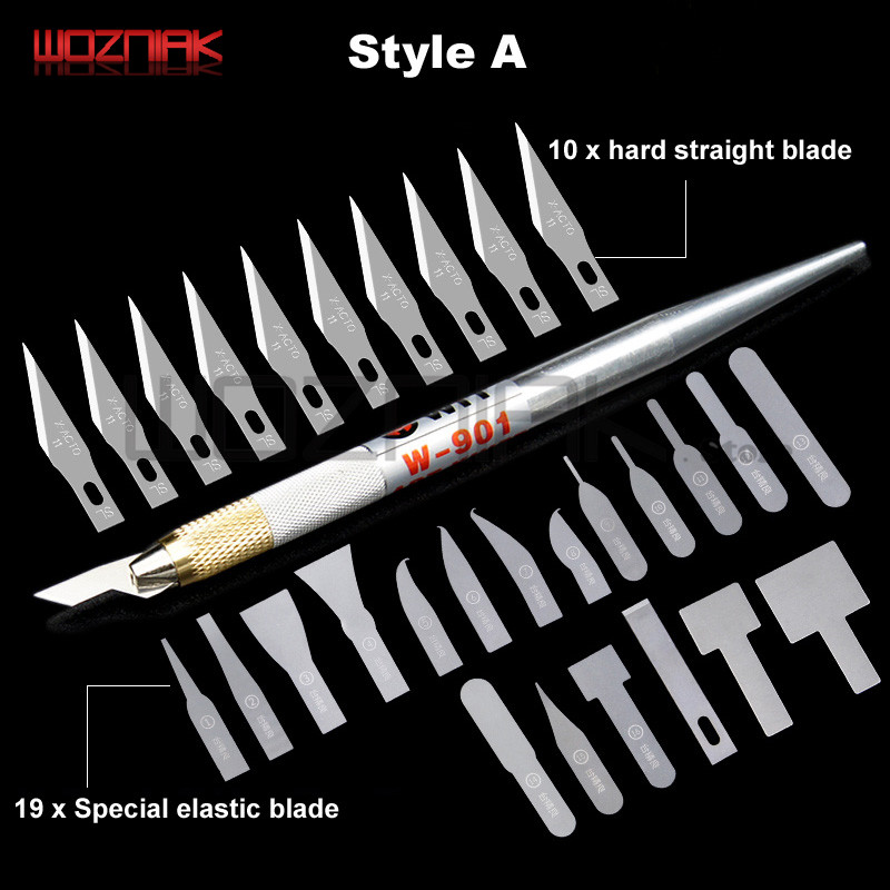 Maintenance CPU NAND Chip IC Knife For Iphone A8 A9 A10 Frictioning Remove Black Glue BGA Motherboard Knife Tool Special Blade