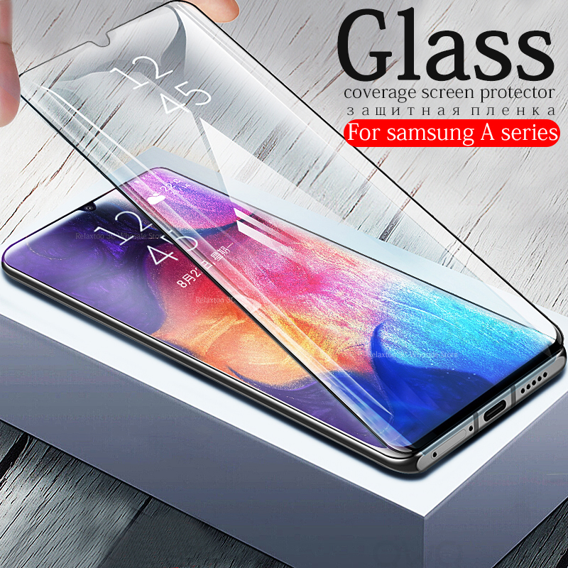 Protective Glass on the For Samsung Galaxy A50 A40 A30 A60 A70 2019 Screen Protector sumsung galax a 70 40 50 Tempered Glas Film-in Phone Screen Protectors from Cellphones & Telecommunications