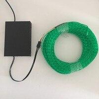 Мигает EL, неон чеканка электролюминесцентный провод течет кабель провод питания, 2,3 мм диаметр 100 м рулон с AC80 240V инвертор