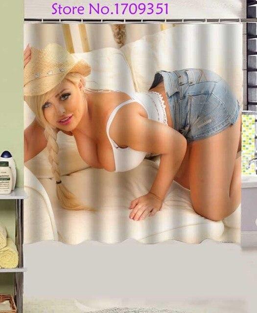 Kaitlin Grey Blonde Sofa Girls Design Polyester Fabric Shower Curtain X Cm Waterproof And Mildewproof Shower