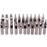 Kit de puntas de tatuaje de acero inoxidable 304, 22 Uds., juego de mezcla de puntas de boquilla para tatuaje, accesorios para agujas de tatuaje, Envío Gratis