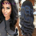 New Arrival Stock!!! Human Brazilian Virgin Hair Full Lace Wigs Fashion Body Wave Free Part Bleached Knots Human Hair Lace Wig
