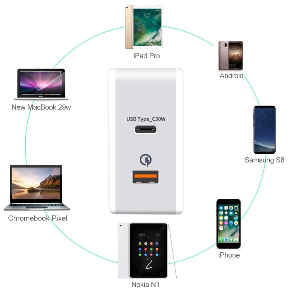 x pd充電器48ワット電源配信QC3.0アダプタ壁充電器iphone 7サムスンs8 最も安い