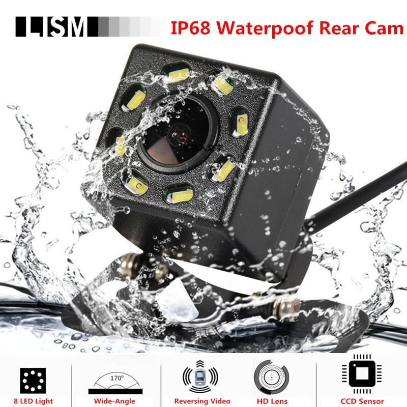 8 LED di 170 Gradi HD Auto Videocamera vista posteriore Ampio Angolo di Visione Notturna di Backup di Parcheggio di RearView D'inversione di Video Recorder Dvr Impermeabile